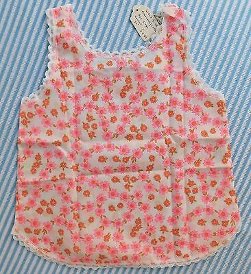 Girls vintage slip Age 2 UNUSED vintage 1970s petticoat pink terylene cotton
