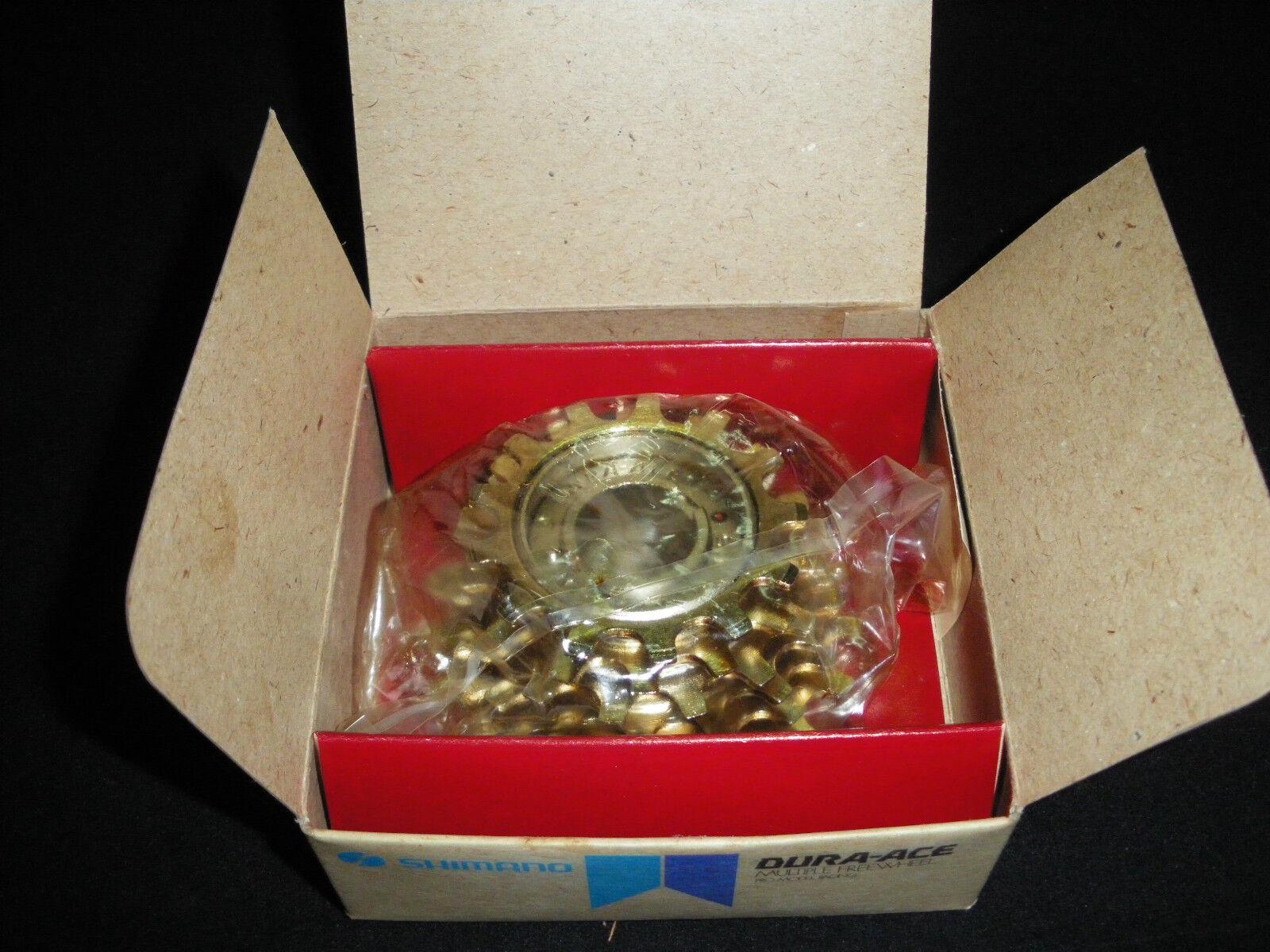 Vintage Shimano Dura Ace 6 Velocidad Rueda Libre (13 X 19) de níquel-Acabado en oro Nuevo Viejo Stock