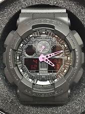 Casio G-Shock GA100C-1A4 Analog Digital Black & Pink Digital Watch