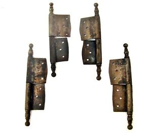 Antique-French-iron-hinges-Window-Furniture-Cabinet-Door-Lot-of-four
