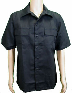 Tru-Spec-Tactical-Street-Uniform-Short-Sleeve-Field-Shirt-BLACK