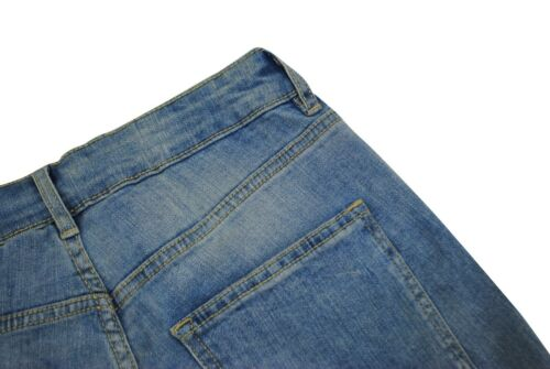 Womens H/&M High Waisted Skinny Jeans Ripped Knee Stone Wash Size 6 8 10 12 14