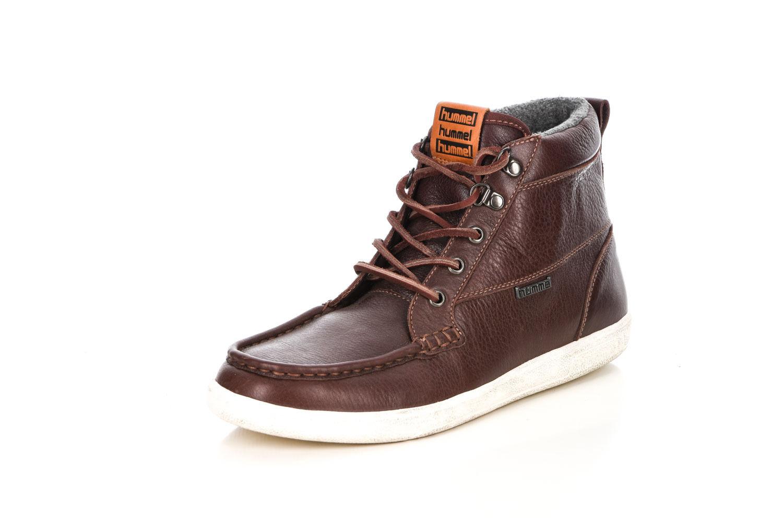 Hummel enviaré caballero zapatillas de cuero marrón forradas tamaño 41 h501 nuevo