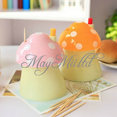 New Novelty Mushroom Automatically Toothpick Box Holder  Q