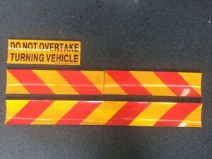 5 pcs Do Not Overtake Turning Vehicle Sign retro reflective sticker