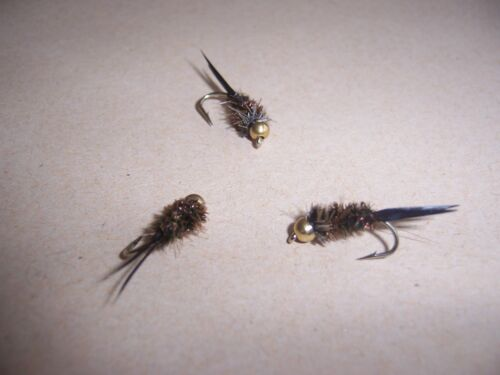 Details about  /3 x Goldhead Terminator nymph trout flies size 10  by Salmoflies Fishing Flies