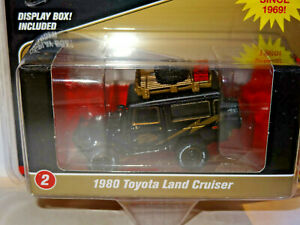 Johnny-Lightning-Mijo-Exklusiv-Schwarz-amp-Gold-1980-Toyota-Land-Cruiser-Offroad