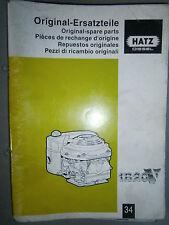 HATZ moteur diesel 1B 20 V : catalogue de pièces