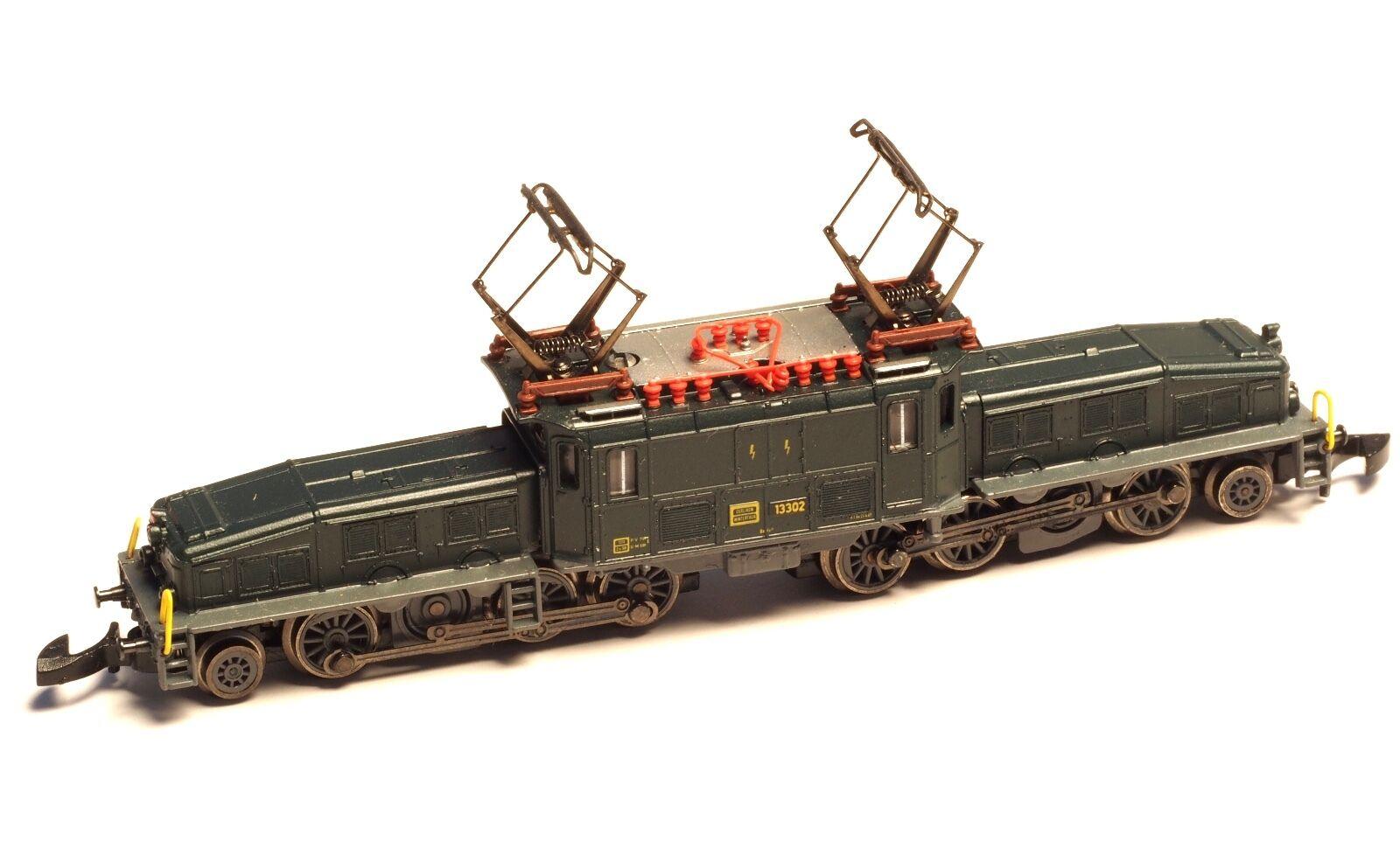 8856 Marklin Z-scale  SBB Be 6/8 Crocodile grigio chassis, dark wheels