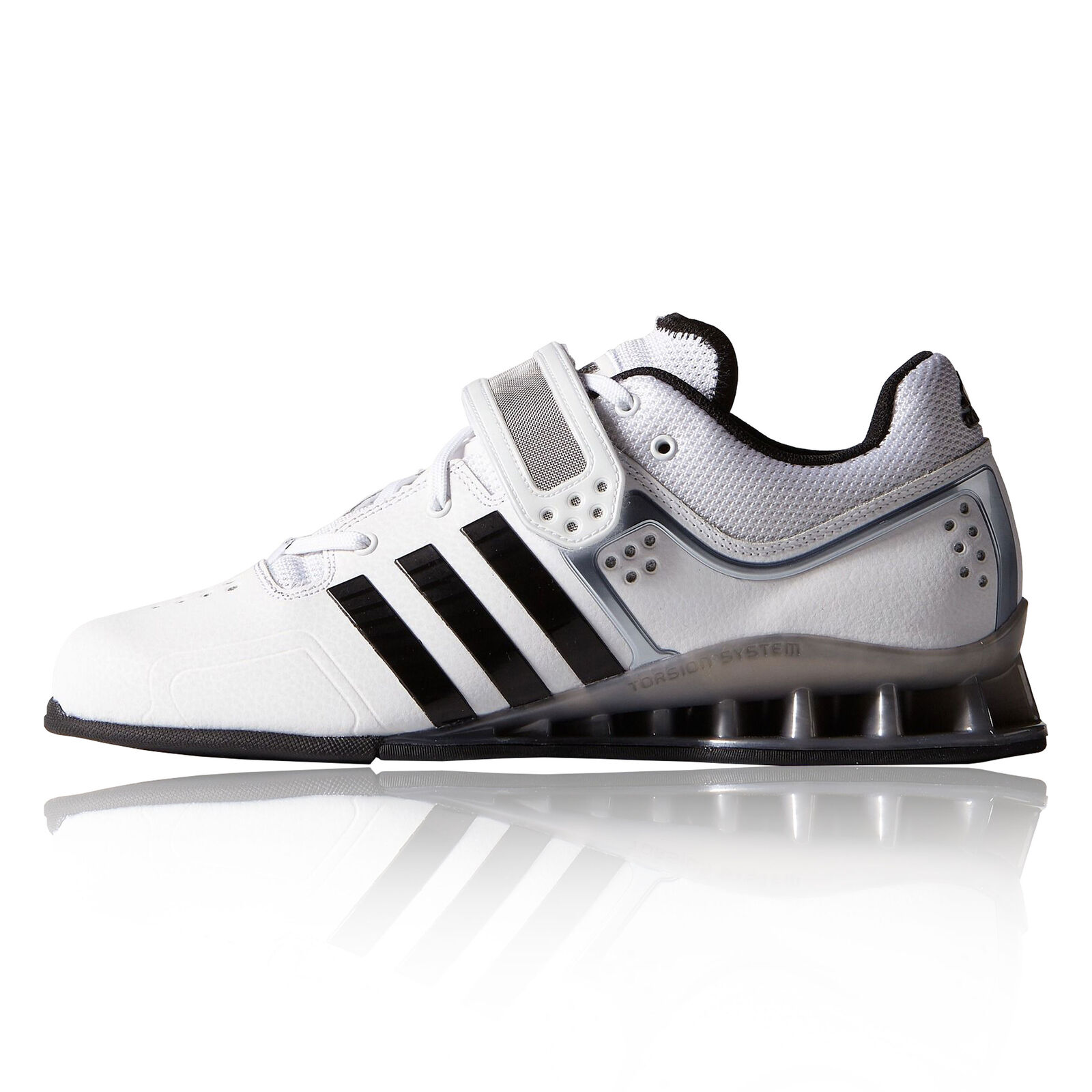 Adidas Adipower Mens White Lightweight Sneakers Gym Weightlifting shoes New