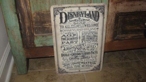 DISNEYLAND Retro Vintage Look Reproduction Walt Disney July 17,1955 Metal Sign!