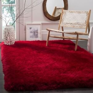Safavieh-Hand-Tufted-Red-Luxury-Shag-Area-Rugs-SGX160E