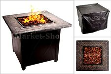 30,000 BTU Blue Rhino Outdoor Propane Gas Fire Pit Lava Rocks Porch Patio Camp .