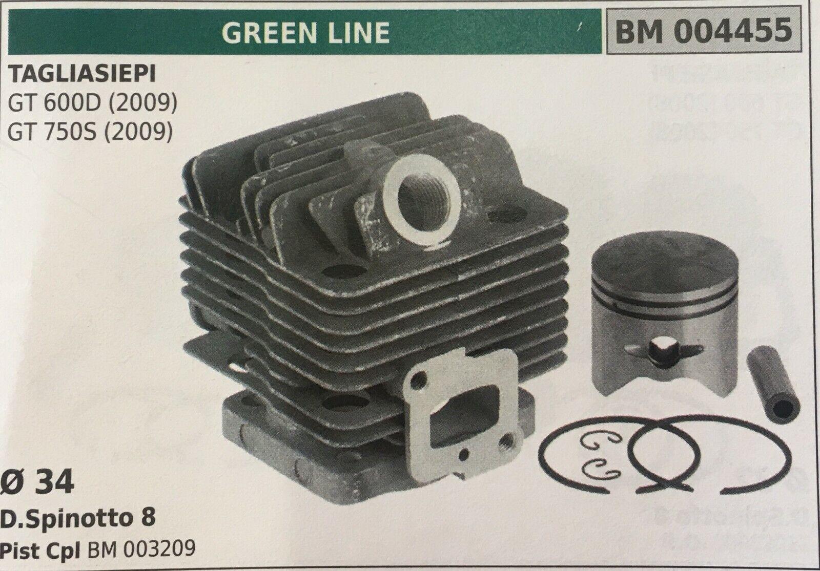 CILINDRO COMPLETO DI PISTONE E SEGMENTI BRUMAR BM004455 verde LINE