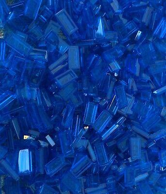 100 Pieces LEGO Trans 1x2 Transparent Dark Blue Flat Tiles Smooth Detailing NEW