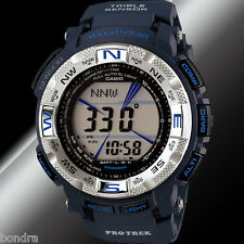 Casio Mens PRG-260-2CR Protrek Watch Tough Solar Compass Dark Blue Altimeter