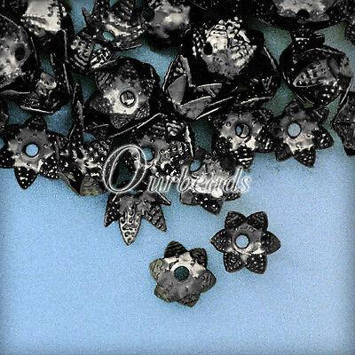 10g(100-160pcs)Iron Flowers Cone Bead Caps 7x7mm Jewelry Making OBSBC39-97