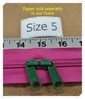 2 Ykk Zipper Sliders For 5 Coil Zipper Color F175 emerald Green