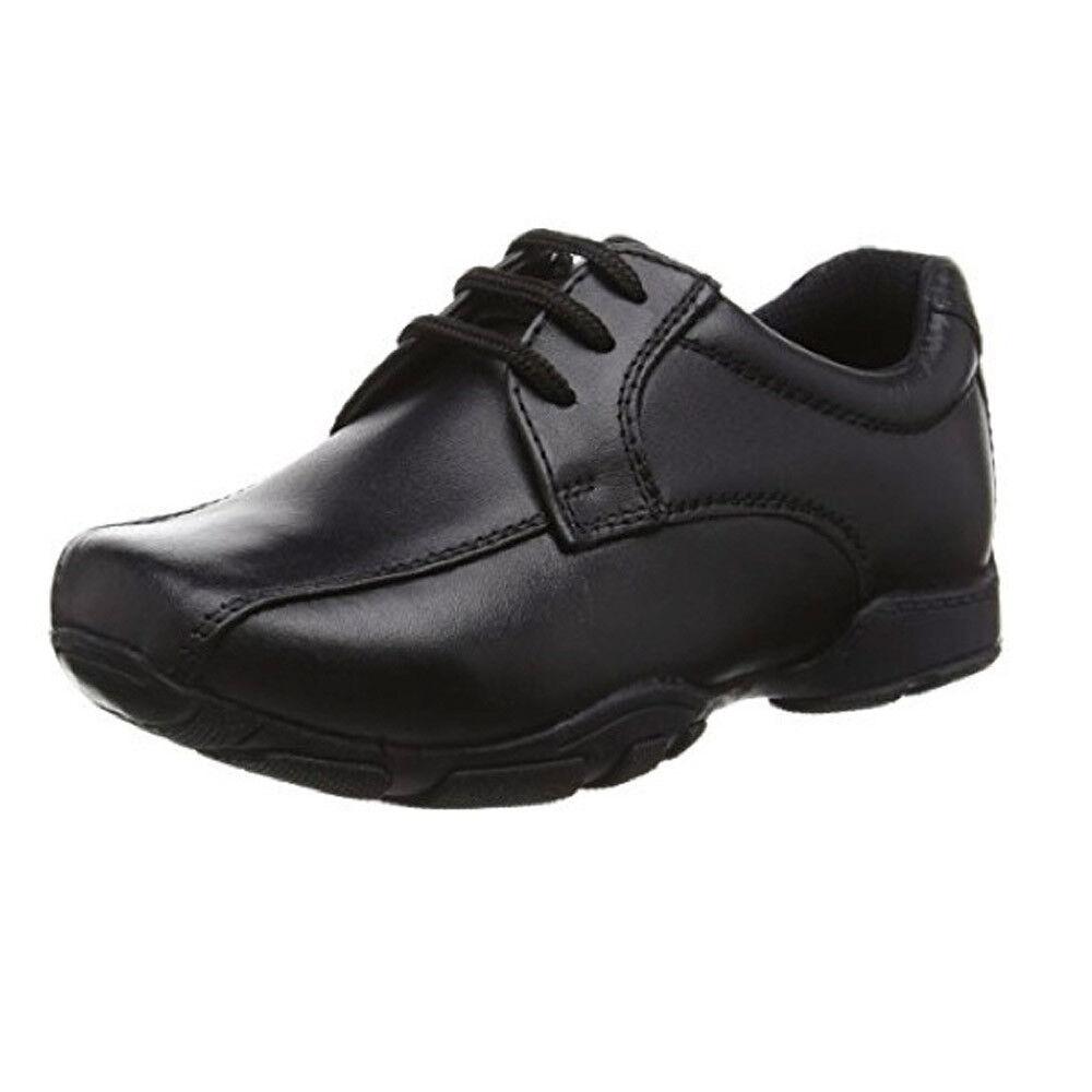 Hush Puppies Boys Black Leather School