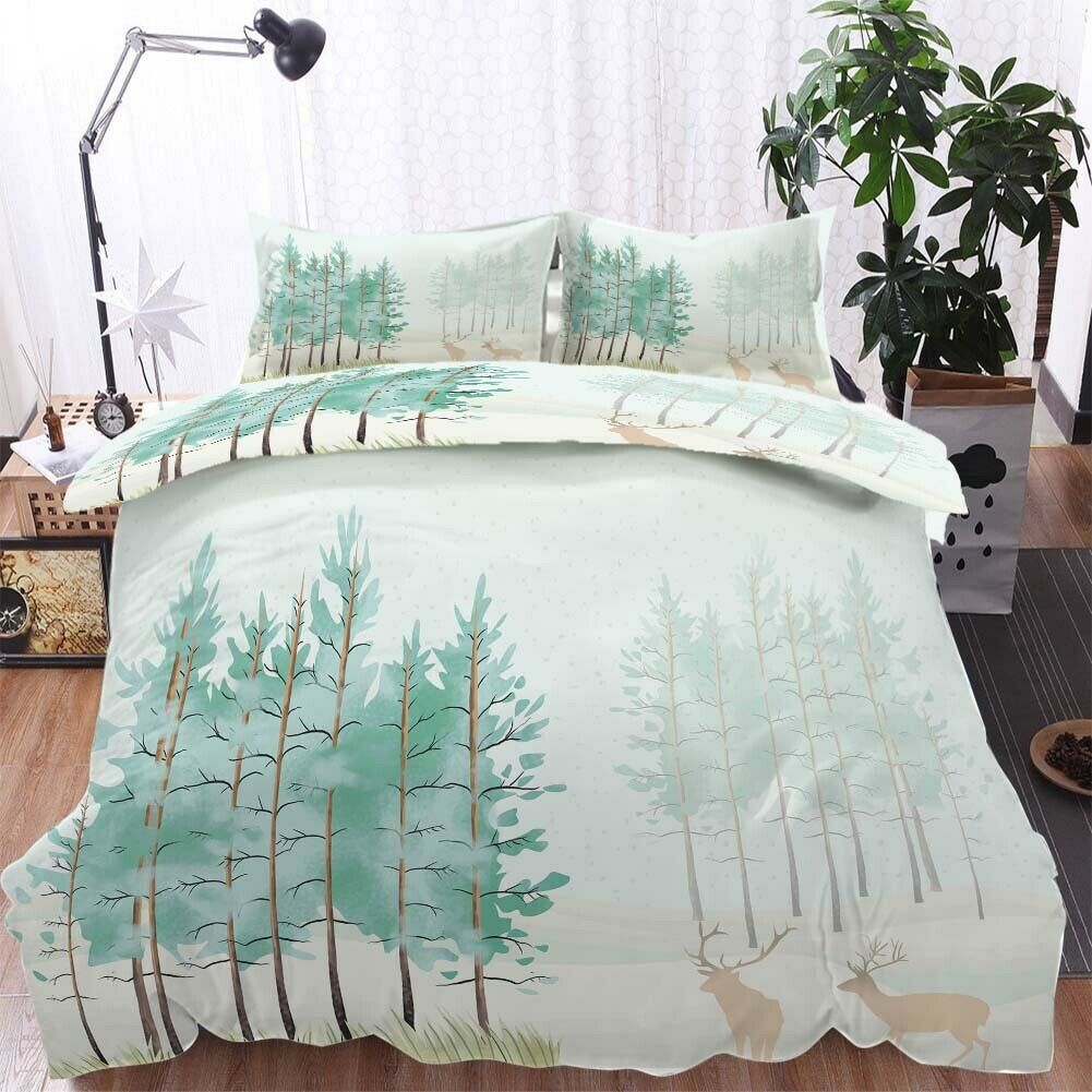 Bending Large Tree 3D Printing Duvet Quilt Doona Covers Pillow Case Bedding Sets