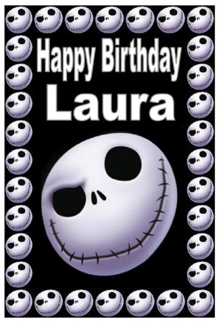 NIGHTMARE BEFORE CHRISTMAS (JACK) - BIRTHDAY CARD PERSONALISED - ANY NAME - NEW