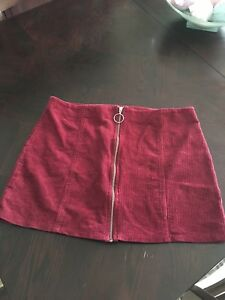 d4c7ef99ba2a9 Forever 21+ (Plus Size) Burgundy Corduroy Mini Skirt with Zipper ...