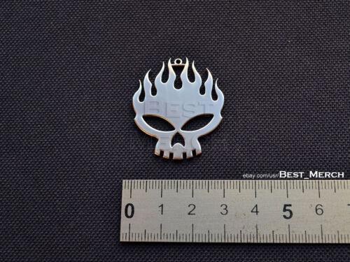 Offspring Necklace stainless steel Skull Pendant merch logo symbol
