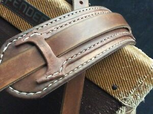 Genuine-leather-with-a-worn-style-finish-guitar-strap-handmade-amp-hand-stitched