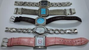 LOT of 5 Ecclissi Sterling Silver Bracelet Watches