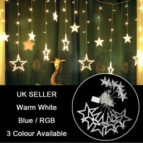 DEL étoile fée lumière fenêtre rideaux String Lights Party Filles Chambre Décorations