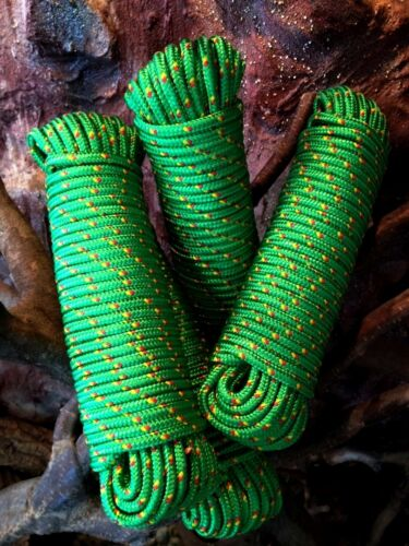 Kordel Rope,Seil 30m,Reparaturseil Spannseil Nr.15 Grünes Strick 6 mm Schot