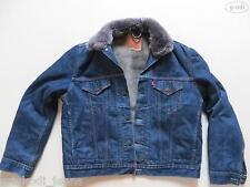 Levi's® Jacke Jeansjacke mit Fell Gr. XL, Indigo Denim warm gefüttert ! UNIKAT !