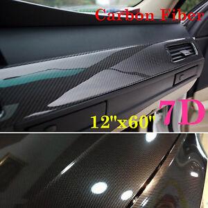 Details about US Car Accessories Interior Panel 7D Carbon Fiber Vinyl Wrap  Sticker 12