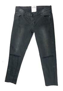 Iggys By Distressed One Crop Paint Teske Black Splatter Faded Jeans 29 W 4EqdrqfW