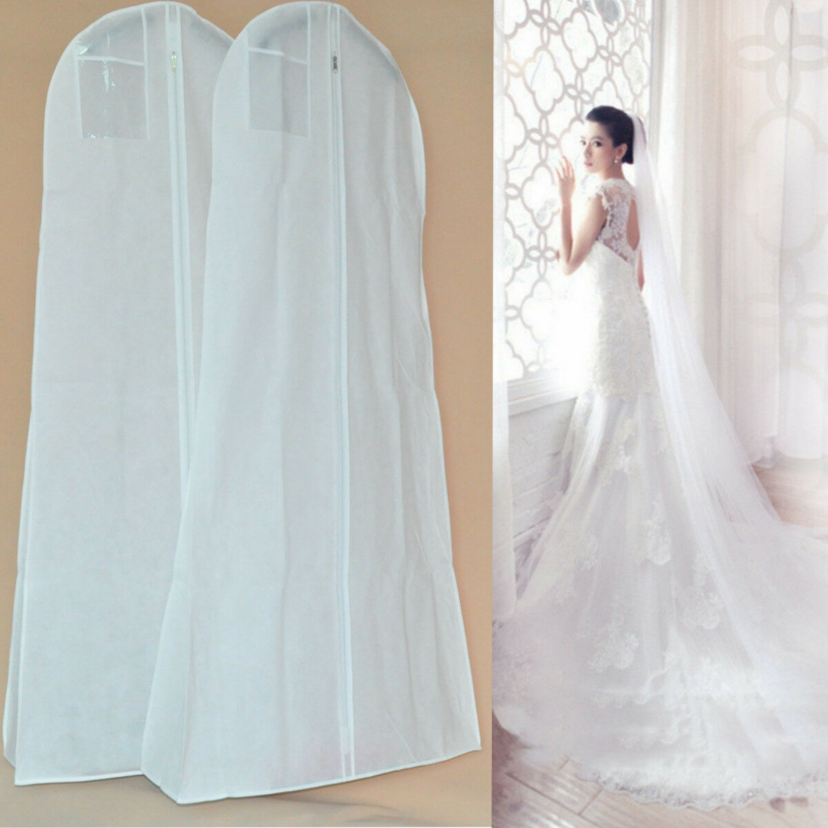 Extra Large Wedding Dress Bridal Gown Garment Breathable Cover ...