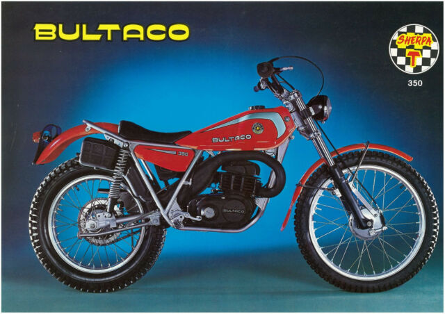 BULTACO Brochure Sherpa T 350 Trials 1978 1979 & 1980 Sales Catalog REPRO