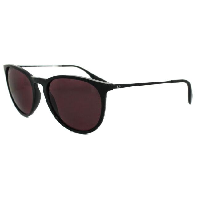 f9dbc3e54d Polarized Genuine Ray-Ban Erika Black Purple Pilot Sunglasses RB ...