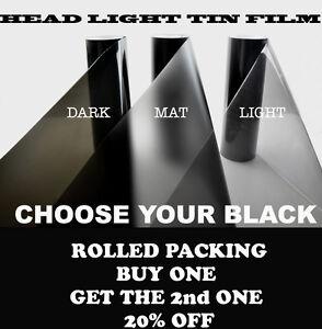 2PCS-30x-60CM-LIGHT-BLACK-Headlight-Tint-Tail-Fog-Lamp-Vinyl-Smoke-Film-Sheet