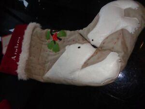 Pottery Barn Kids Woodland Polar Bear Stocking Christmas