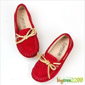 New Kids Childs Loafers Flat Silp On Bowknot Casual Girl
