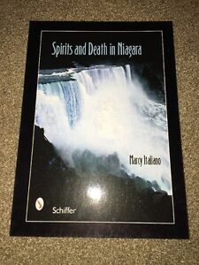 Signed-Spirits-And-Death-In-Niagara-Marcy-Italiano-Postcard-Horror-Author-LL