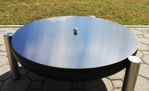 Kugelgriff Deckel aus Edelstahl für Feuerschalen Durchmesser Ø 80 cm
