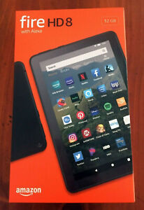 Amazon Fire HD 8 Tablet 32 GB, Black, ALL-NEW 10TH Generation 2020 Release NEW!