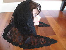 vintage style black mantilla Catholic church chapel scarf lace Mass