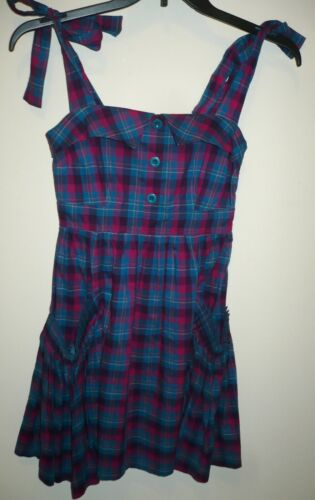 Marc By Marc Jacobs Cotton Plaid Sleeveless Dress