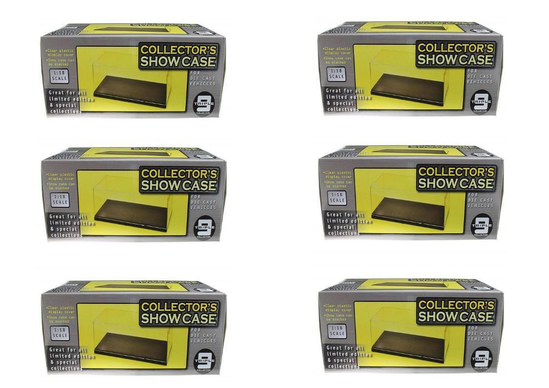 Lot 6 Boites Vitrine Show Case  Socle pour Miniatures 1 24 Neuf Boite D'origine
