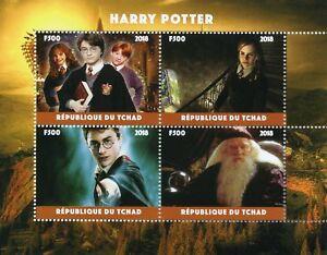 Chad-2018-CTO-Harry-Potter-HERMIONE-GRANGER-SILENTE-4-V-M-S-Film-Pellicola-FRANCOBOLLI