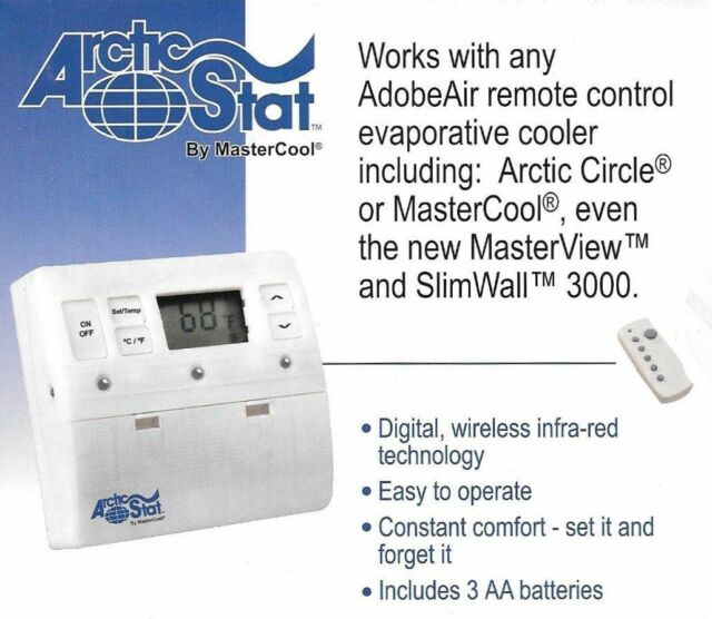 Mastercool Arctic Stat RCT1000 Remote Control Evaporative Cooler Thermostat