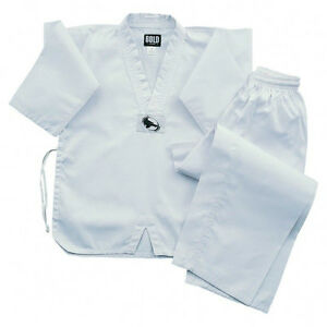 White-TKD-tae-kwon-Do-Uniform-set-All-Sizes-6TKD