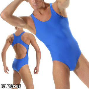 NEW-S-Mens-Royal-Blue-Lycra-Leotard-Suit-Leotard-Bodysuit-Swimwear-SR-SH490